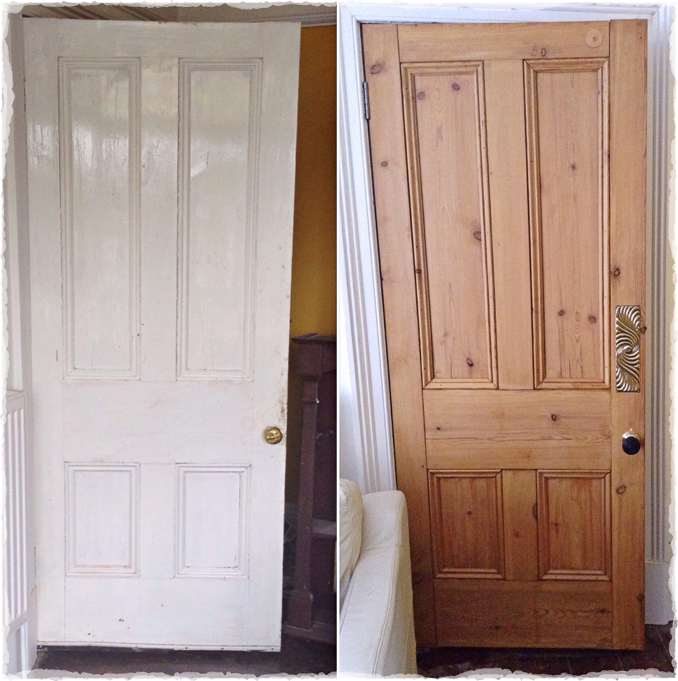 Door Renovations\u2026 & waxing doors | LANSDOWNE REVISITED